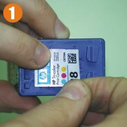 Инcтрукция по заправке картриджа HP 28, 57 & 58 Шаг 1