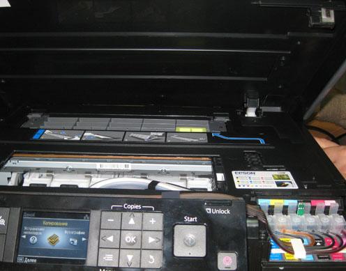 Как заблокировать датчик крышки в МФУ Epson TX700w и установить на него СНПЧ!
